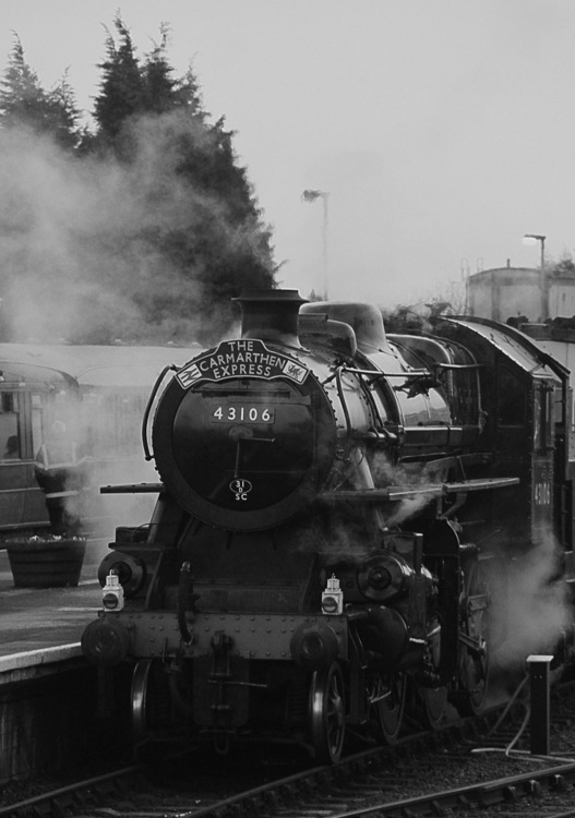 Monochrome Photography,Rolling Stock,Track