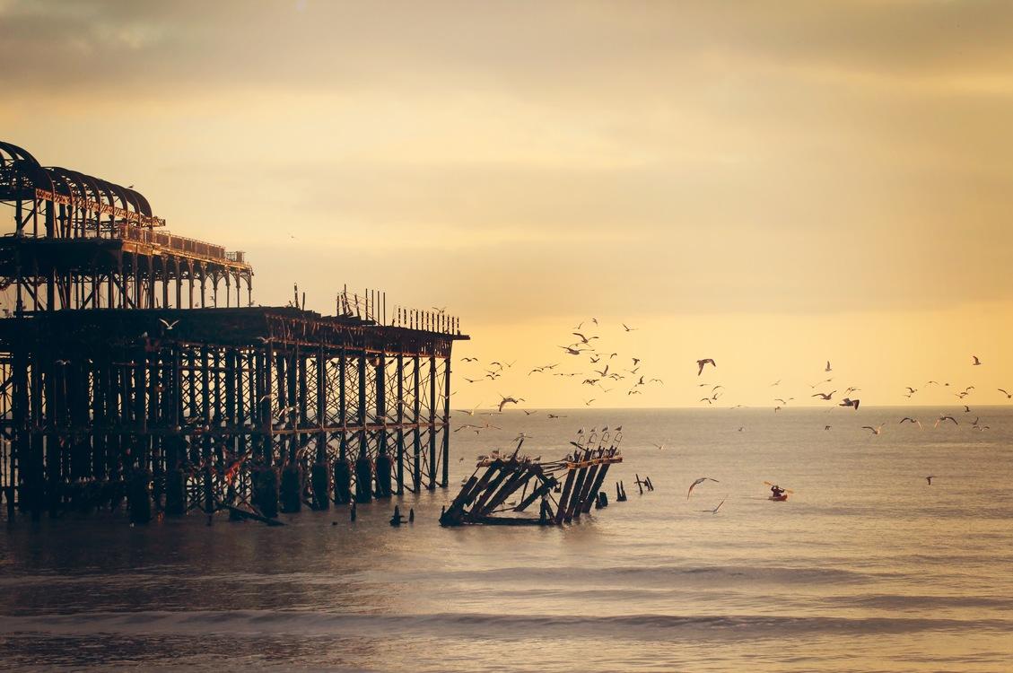 Boardwalk,Sea,Dawn