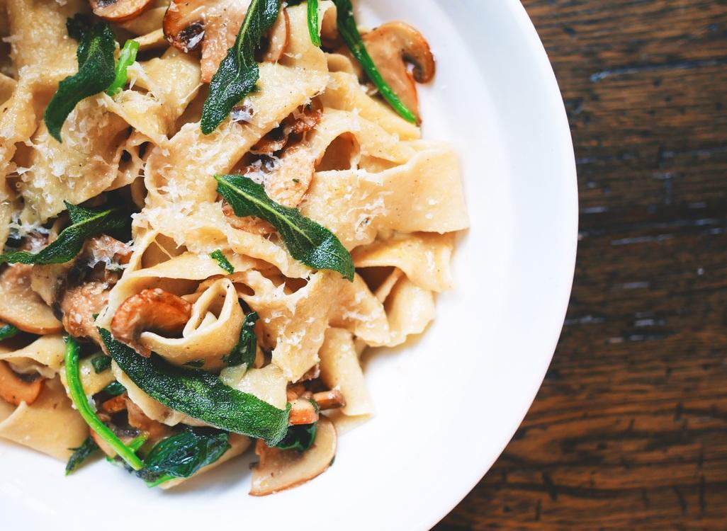 Cuisine,Vegetarian Food,Pappardelle