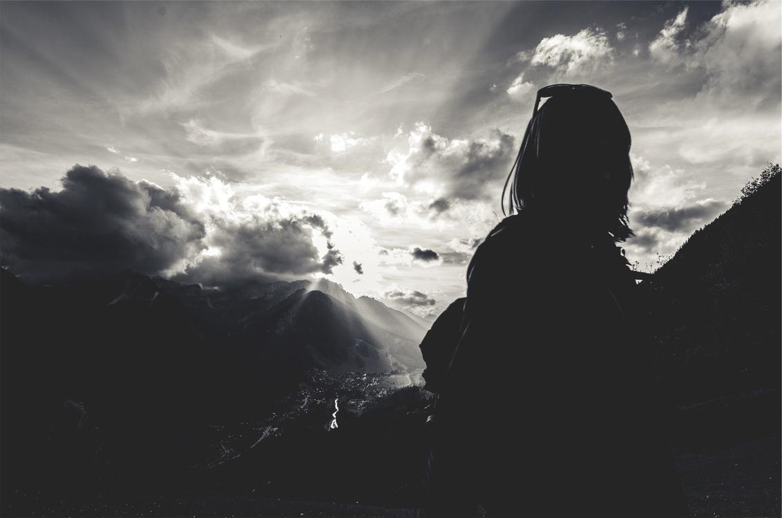 Mountain,Atmosphere,Silhouette