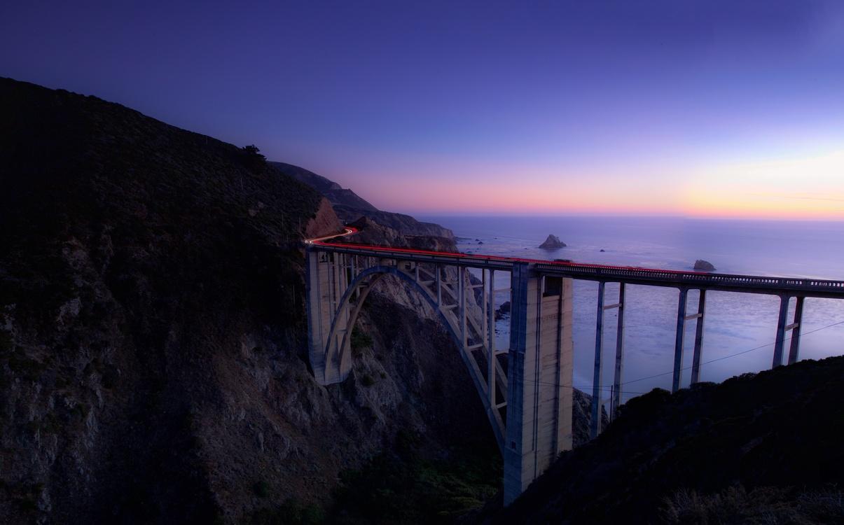 Bridge,Evening,Horizon