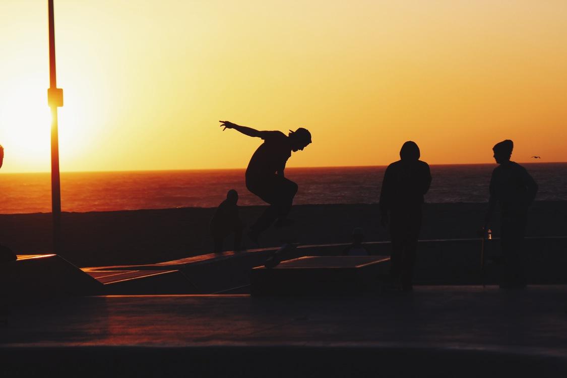 Recreation,Evening,Silhouette