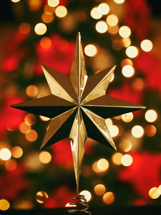 Christmas ornament Christmas tree Star of Bethlehem Christmas lights