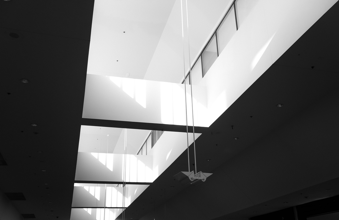 Ceiling,Angle,Monochrome Photography