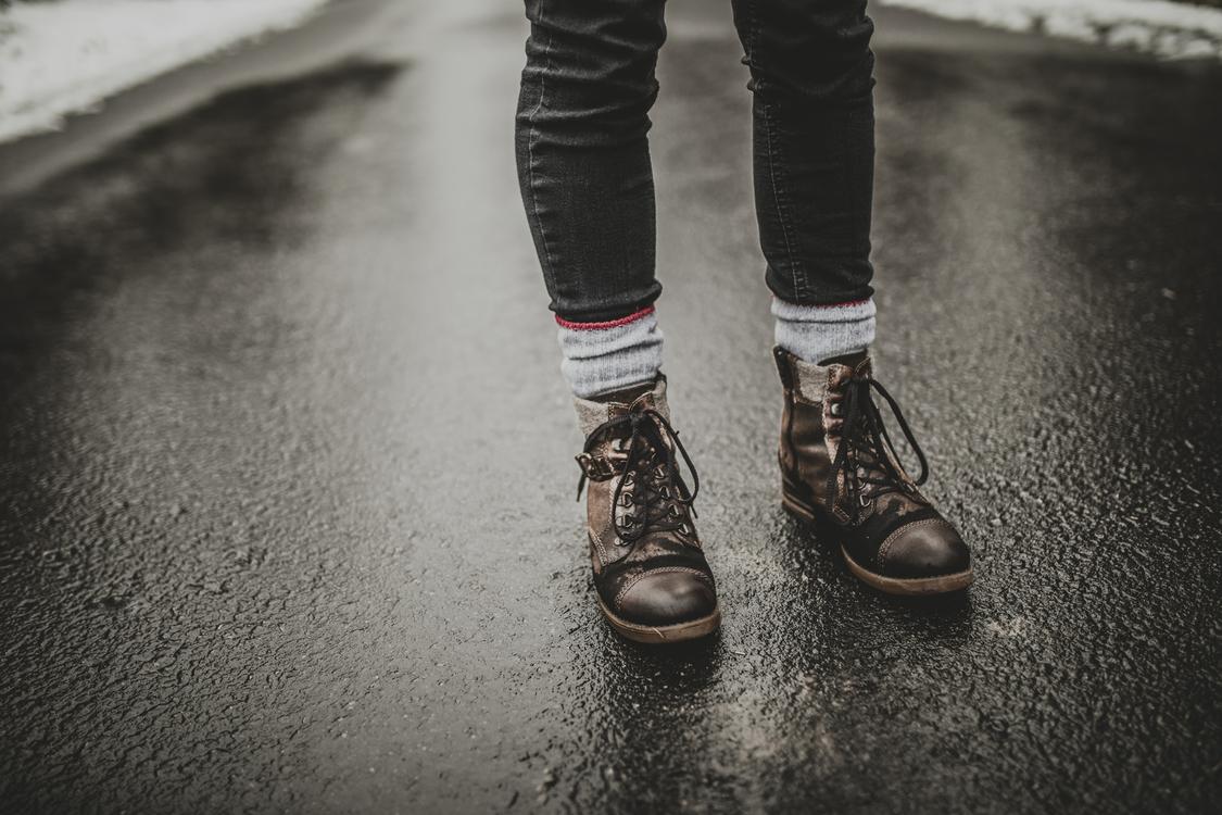 Asphalt,Jeans,Boot