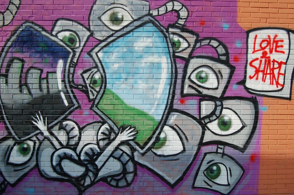 Brick Graffiti Wall Drawing Street art
