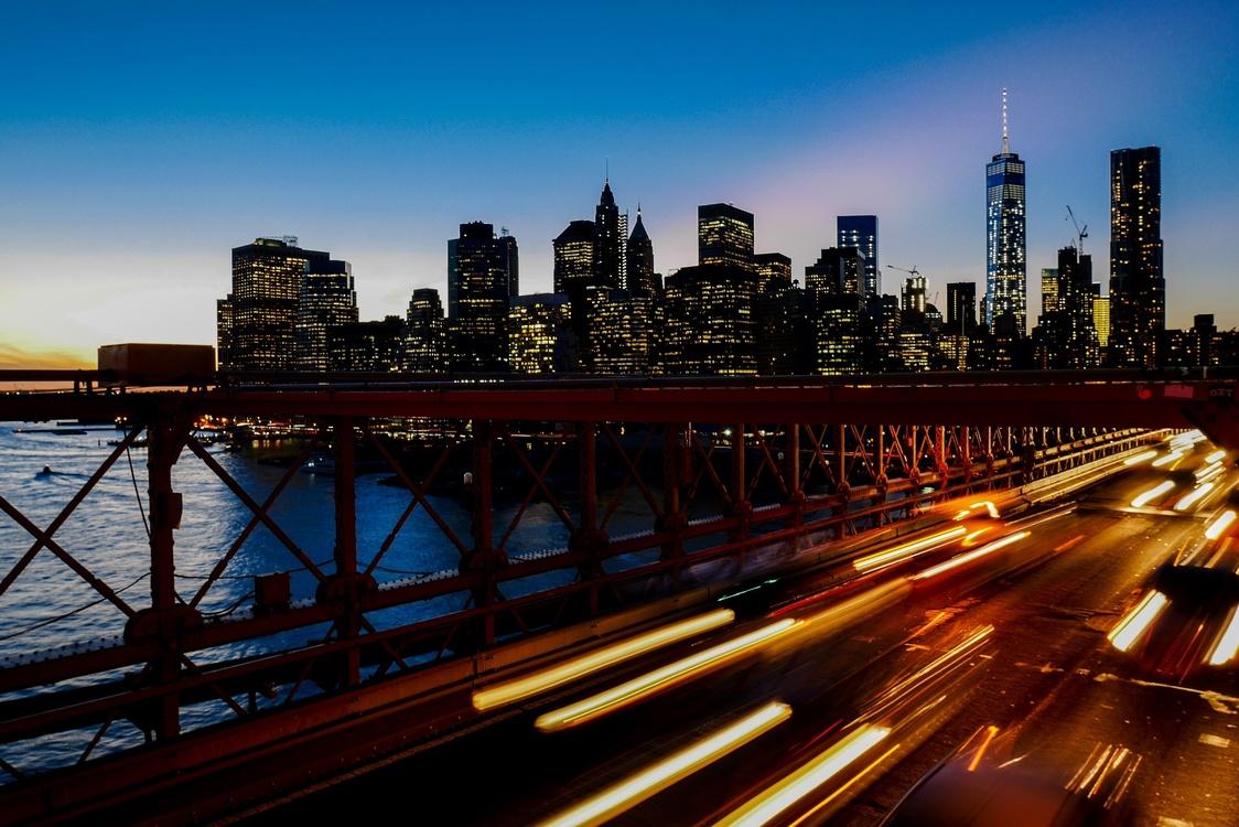 Bridge,Overpass,Evening