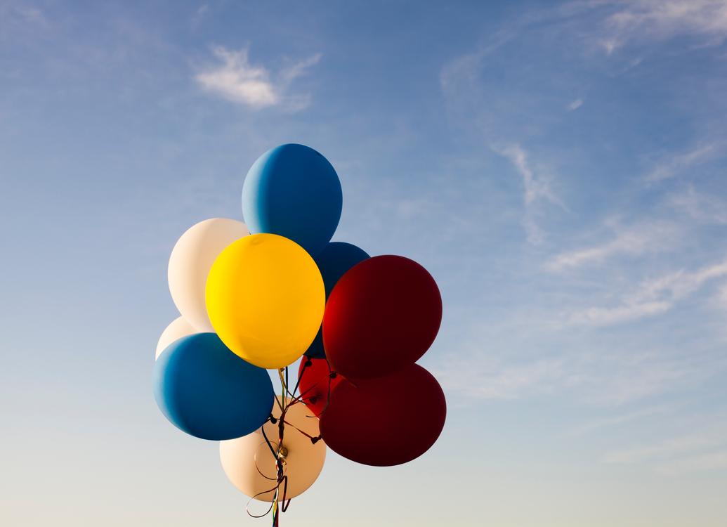 Balloon,Sky,Yellow