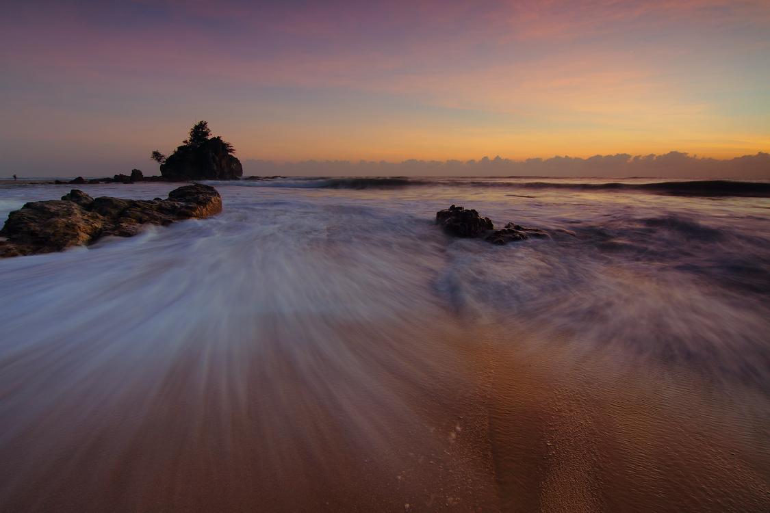 Wave,Evening,Horizon