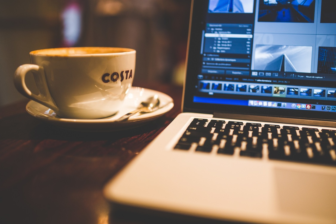 Coffee,Cup,Electronic Device Background - Royalty Free Photo ...