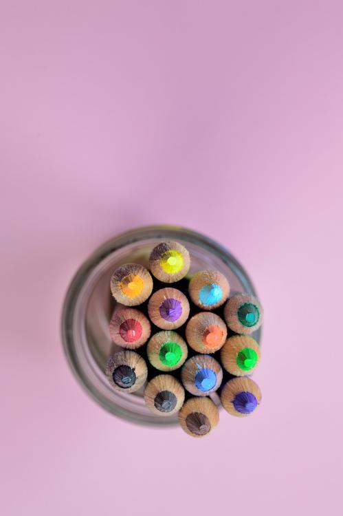 Bead,Button,Colored Pencil