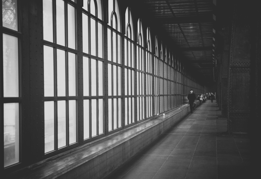 Symmetry,Handrail,Monochrome Photography