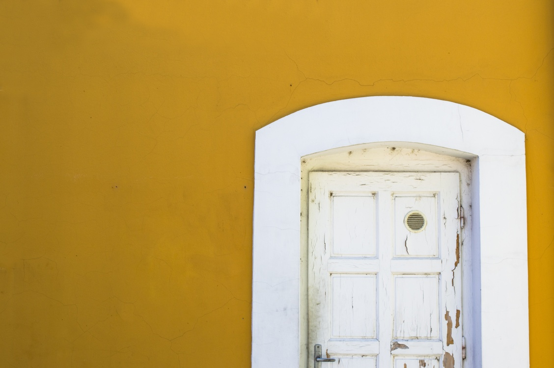 Blue,Door,Wall