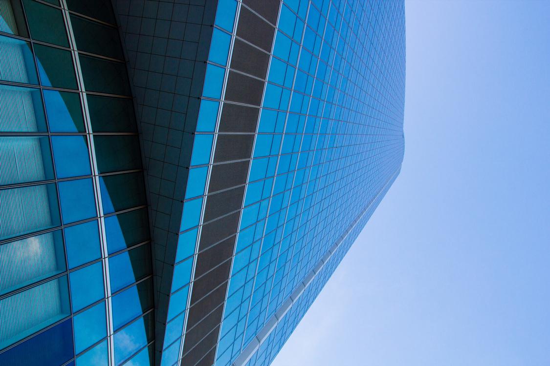 Blue,Building,Metropolis