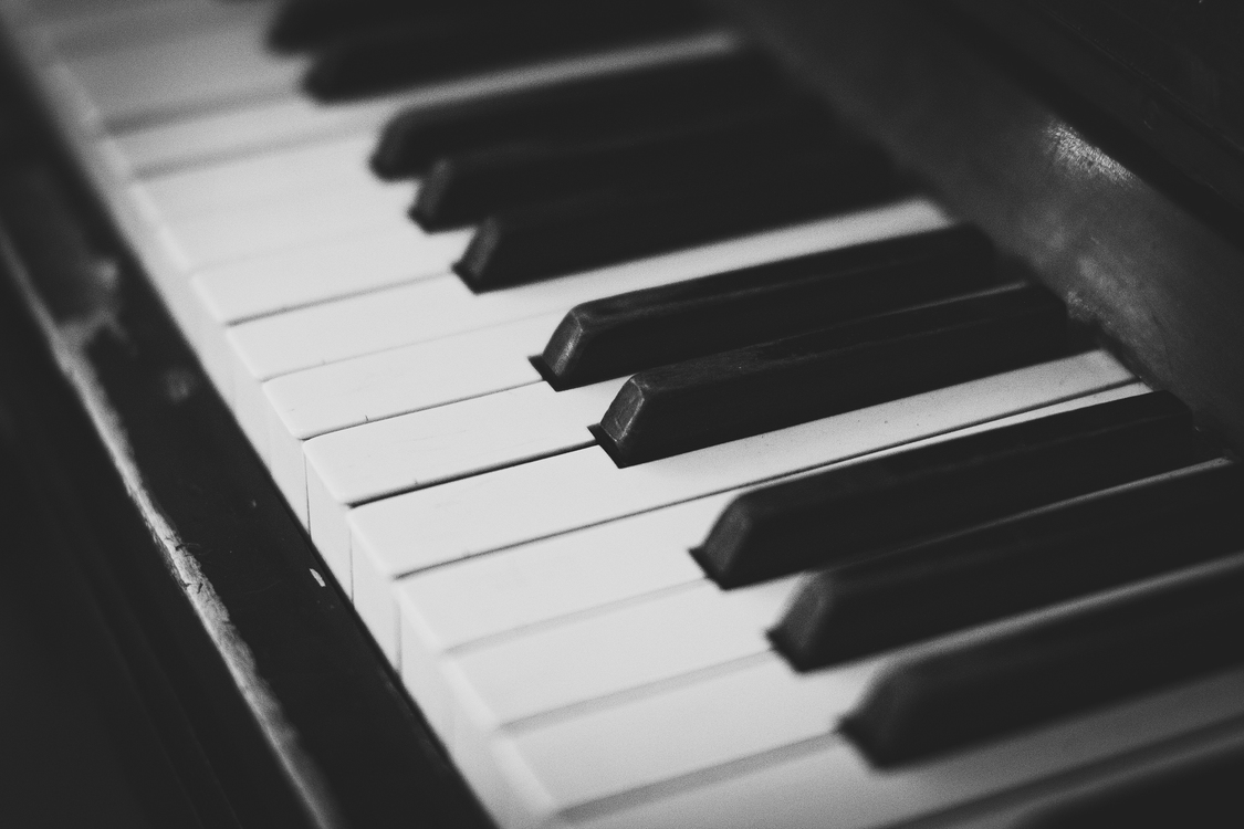 Musical Instrument,Electric Piano,Monochrome Photography