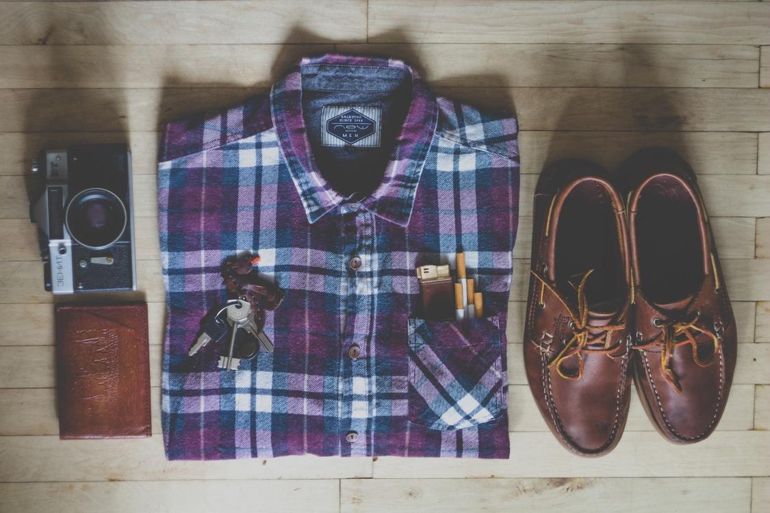 Plaid,Purple,Brand