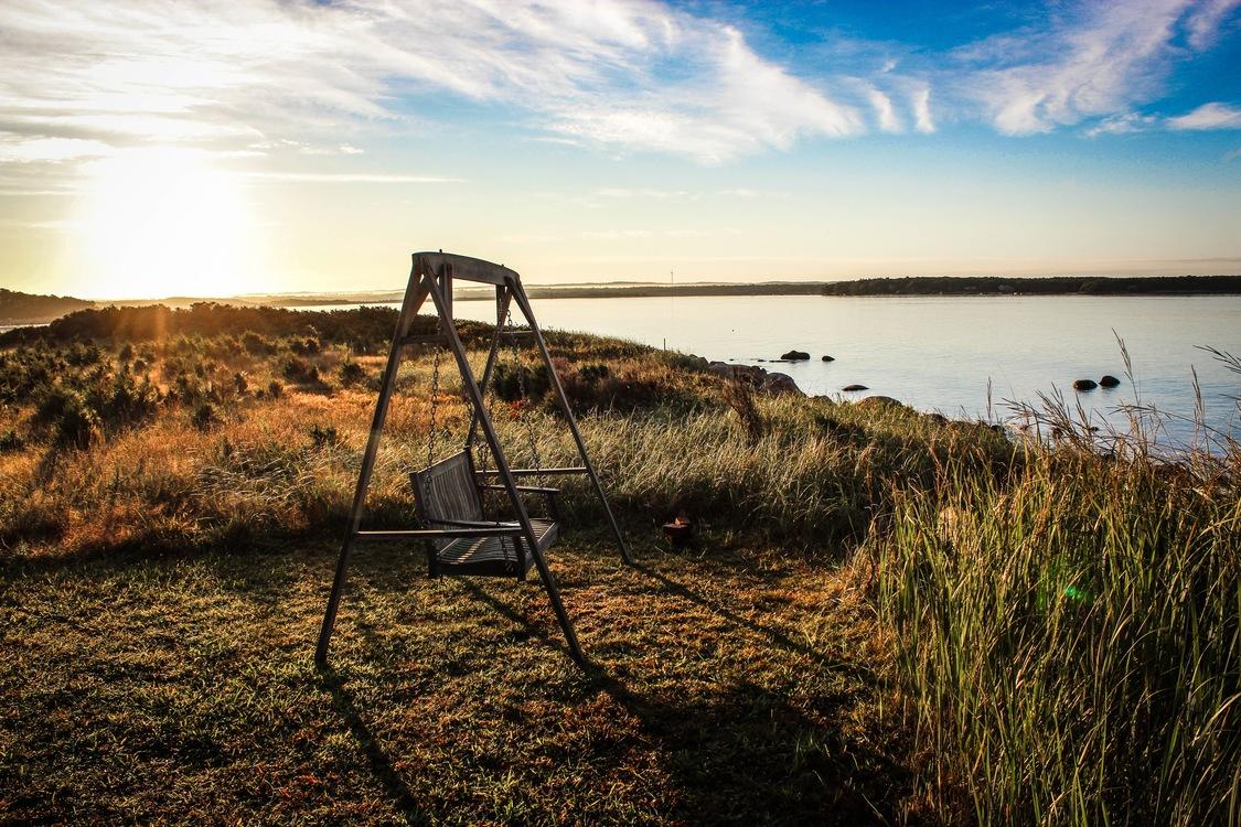 Evening,Prairie,Sea