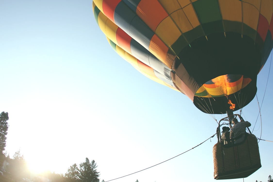 Hot Air Ballooning,Sky,Yellow