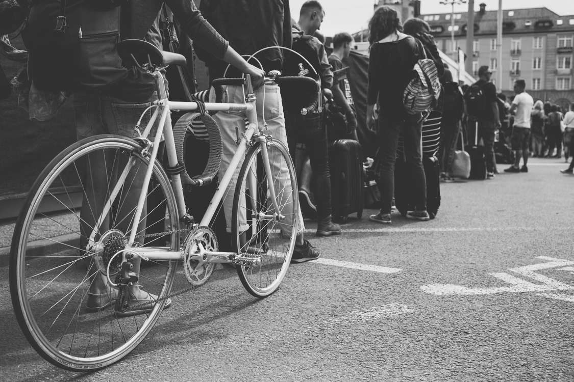 Bicycle,Racing Bicycle,Monochrome Photography