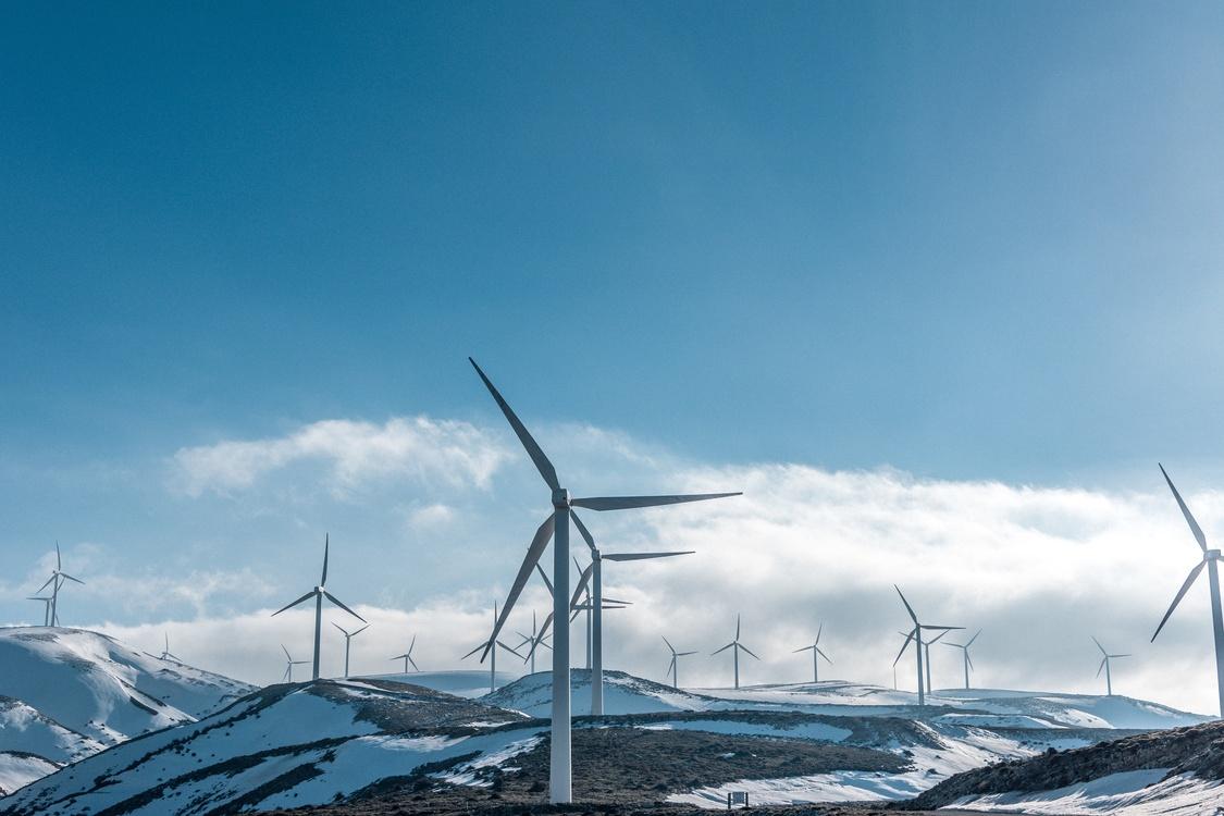 Windmill,Winter,Energy
