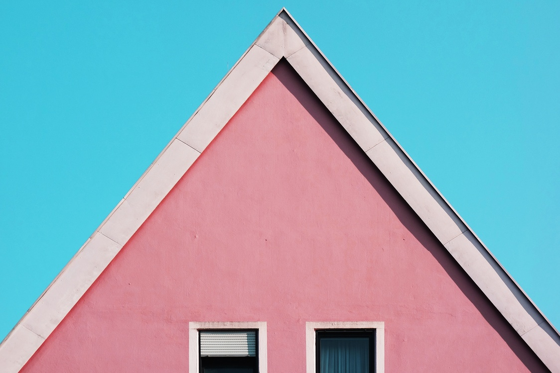 Pink,Building,Triangle
