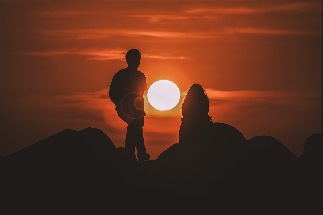 Significant Other Couple Silhouette Sunset Love Cc0 Stock