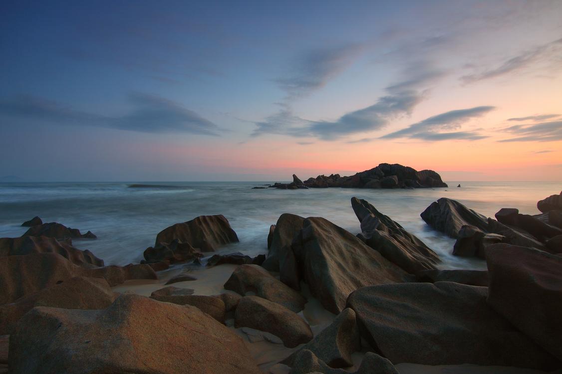 Evening,Sea,Dusk