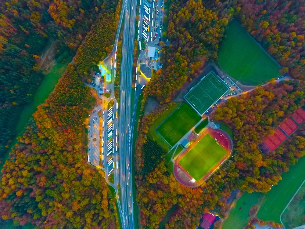 Aerial photography UEFA Champions League Football Sport