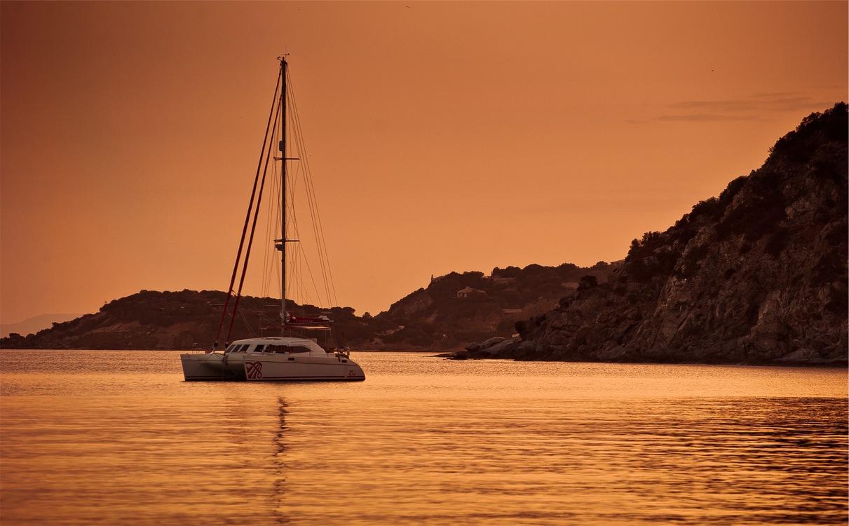 Evening,Horizon,Sailing