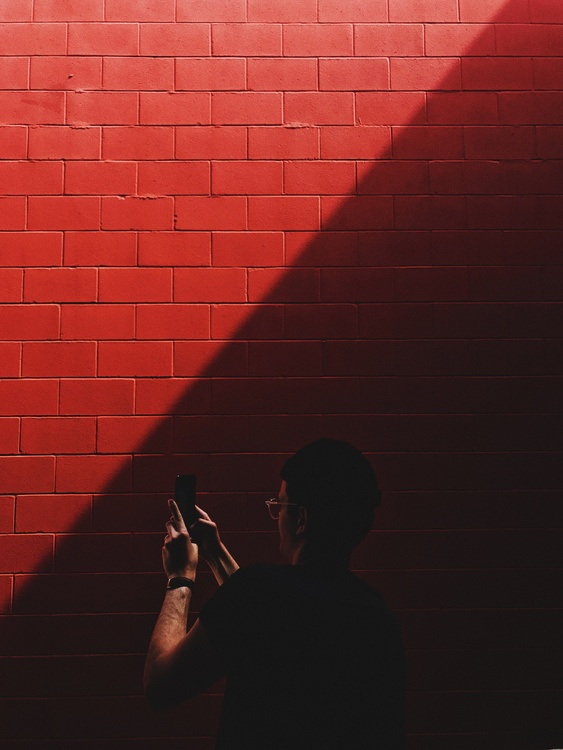 Silhouette,Darkness,Wall
