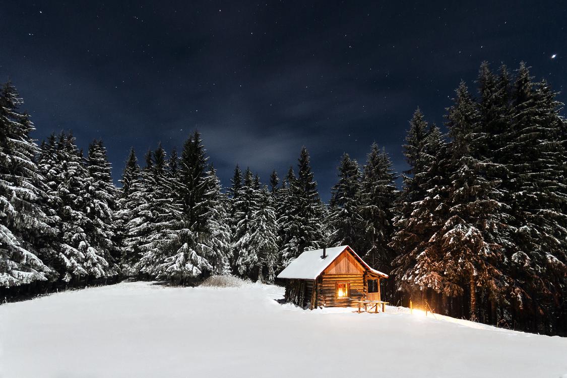 Log cabin Snow Winter Family Mountain cabin
