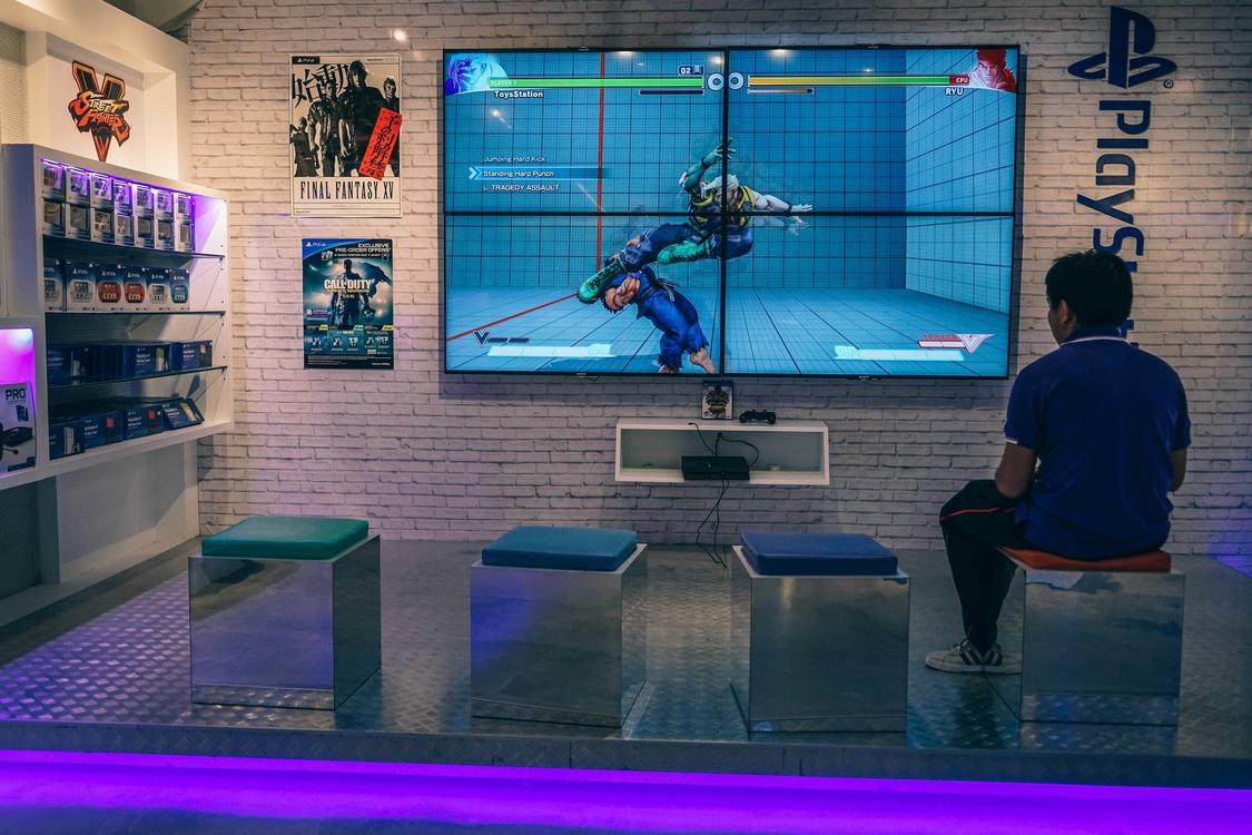 Blue,Television,Sport Venue