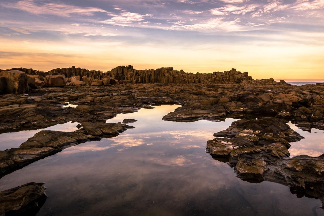 Evening,Reflection,Reservoir