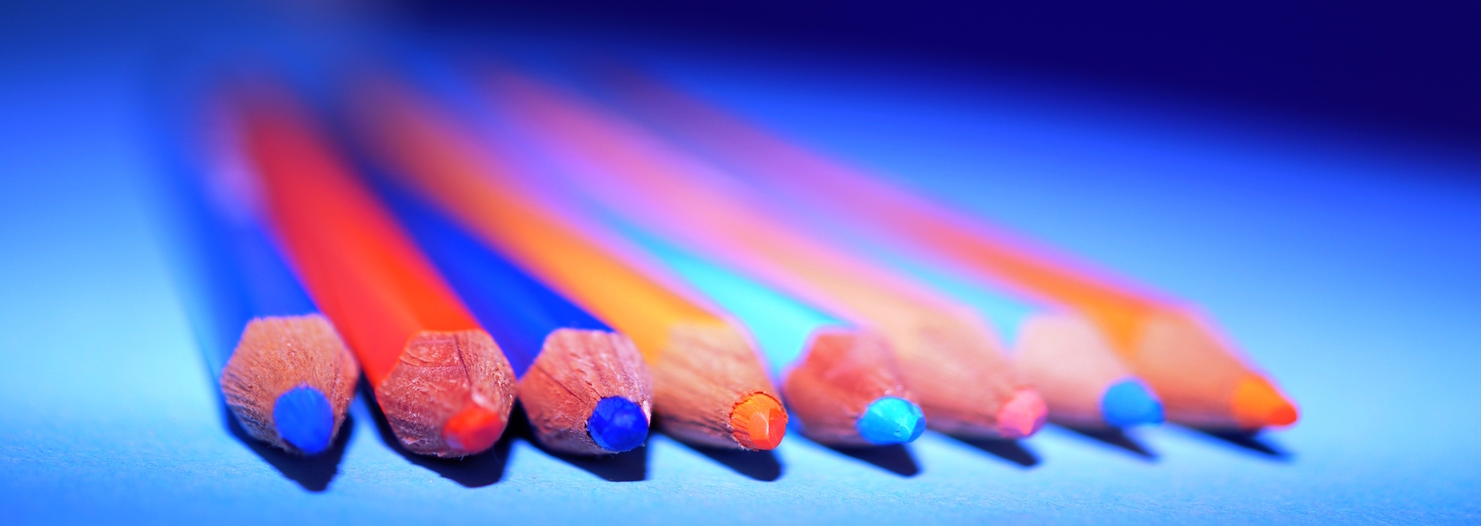 Blue,Pencil,Close Up