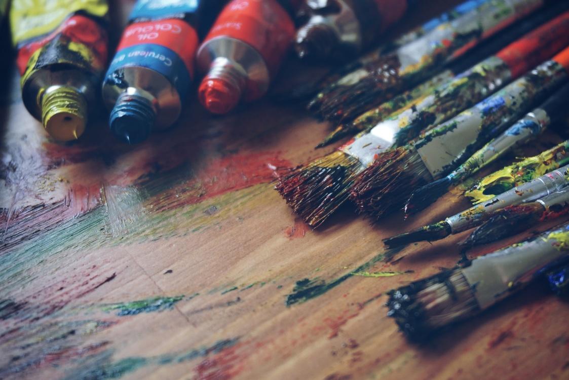 Close Up,Painting,Brush