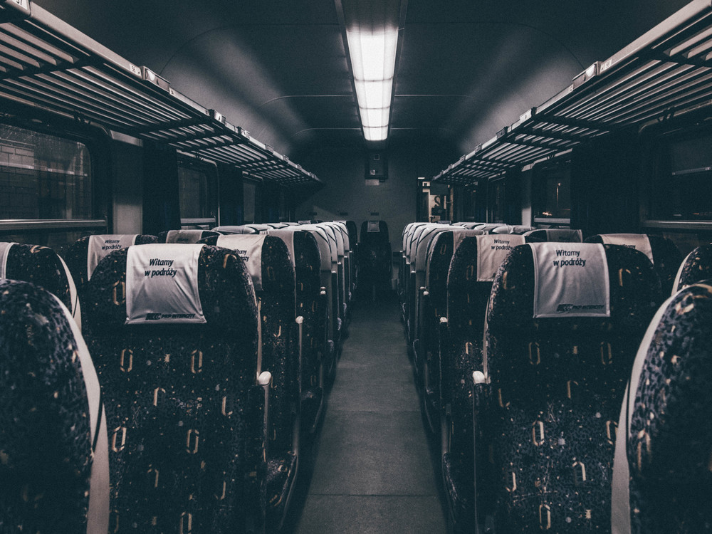 Public Transport,Darkness,Black And White