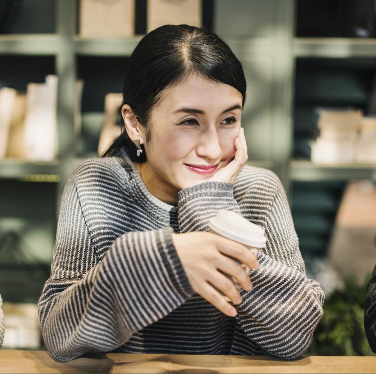 Smile,Girl,Coffee