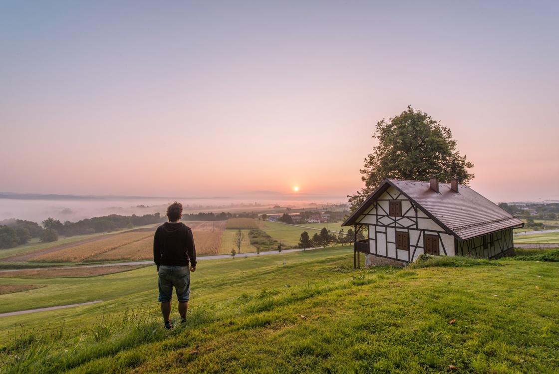 Meadow,House,Mount Scenery