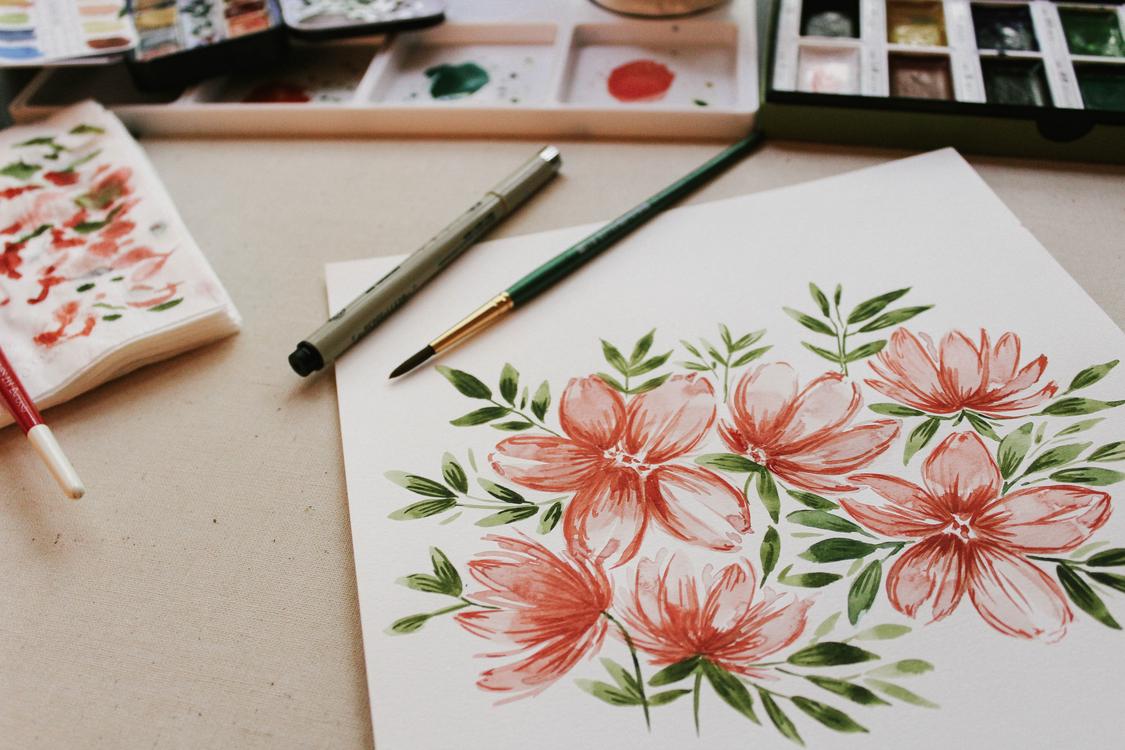 Artist Watercolor painting En plein air Work of art