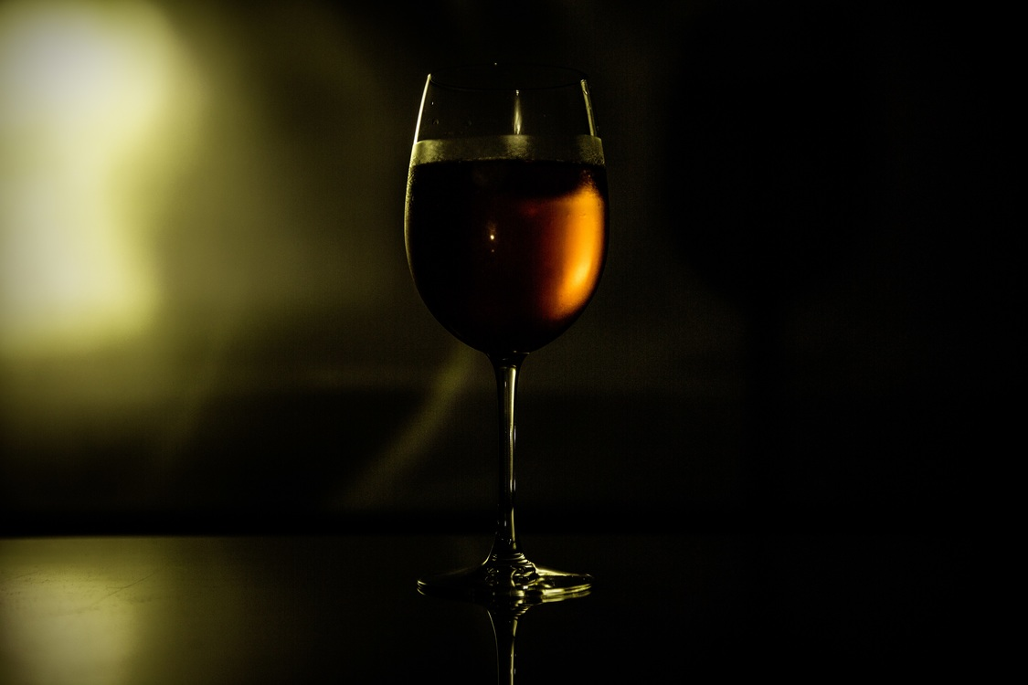 Darkness,Champagne Stemware,Reflection