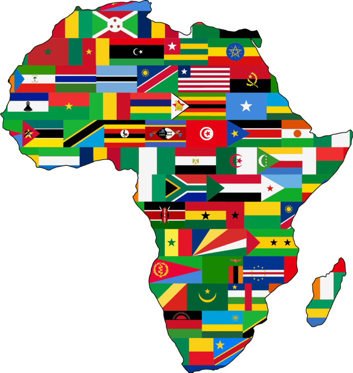 Map Of Africa With Flags.Flag Of South Africa Map Flag Of Rwanda Free Commercial Clipart