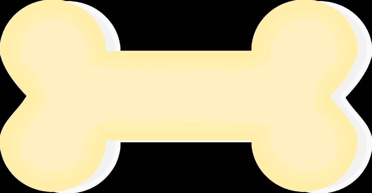 Dog bone yellow. Angle text vector clipart