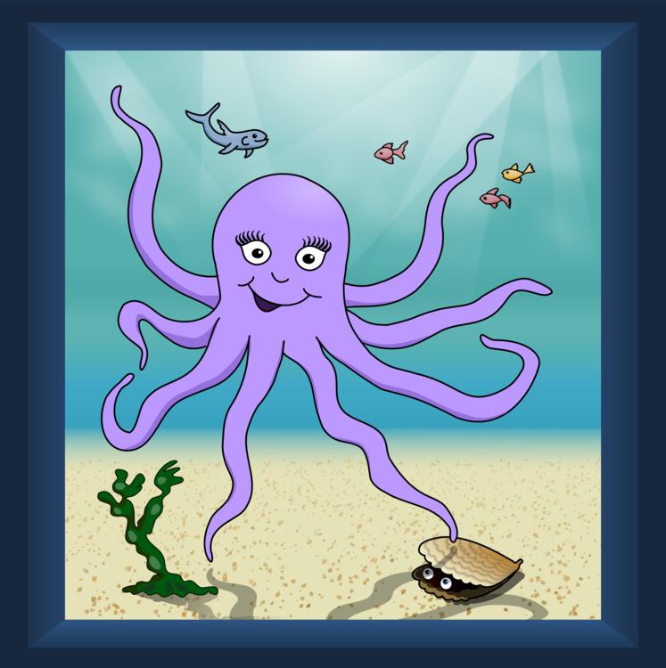 Marine Invertebrates,Art,Purple