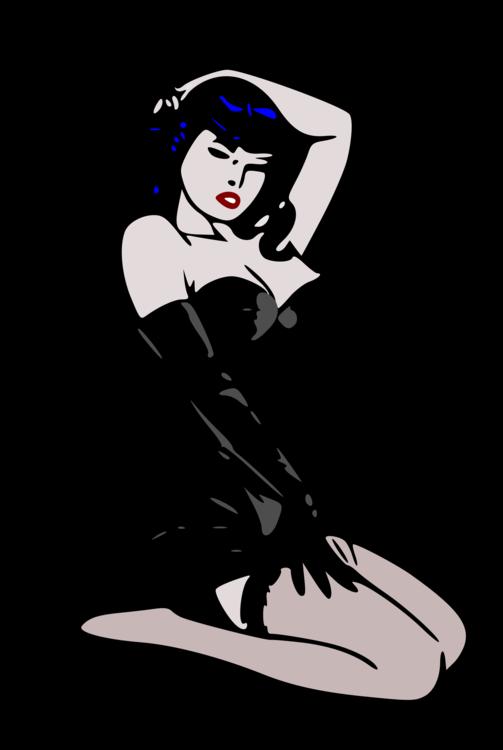 Woman,Art,Black Hair