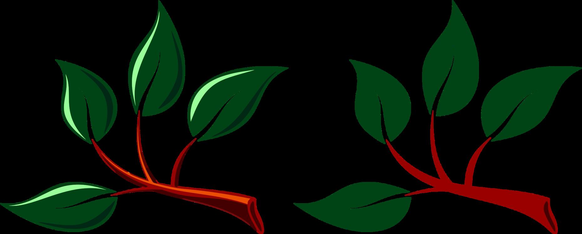 Leaf flower. Plant flora vector clipart