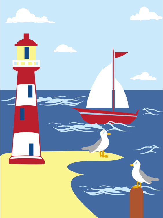 Lighthouse,Watercraft,Sky