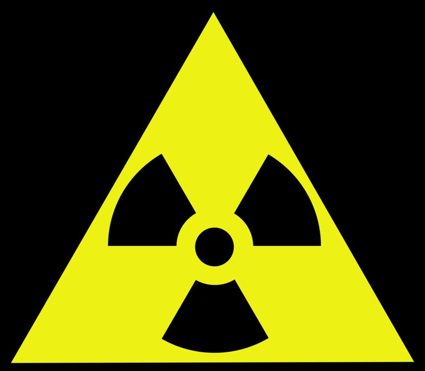 Nuclear Power Radioactive Decay Warning Sign Hazard Symbol Radiation