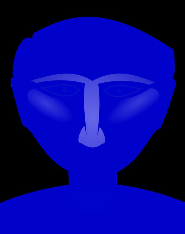 Blue,Forehead,Head