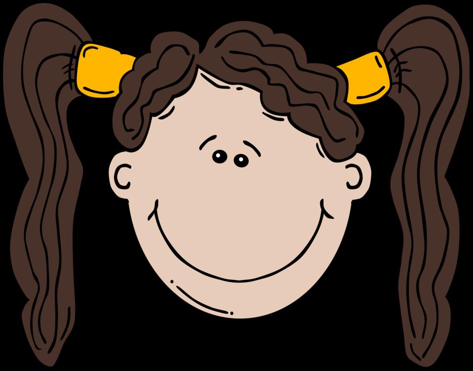 Cartoon Woman Child Smile Girl