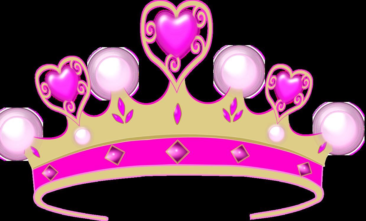 Pink,Heart,Crown